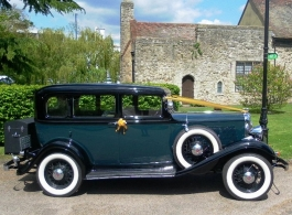 Vintage American car for weddings in Chatham